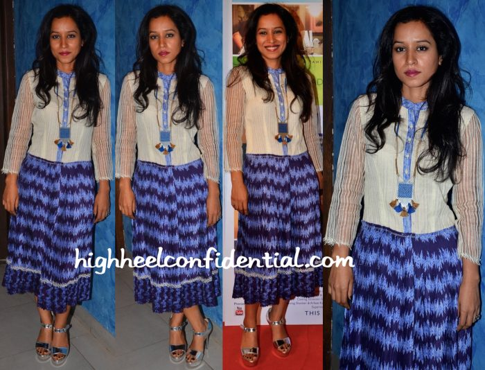 Tillotama Shome In Urvashi Kaur At 'Love Shots' Promotions