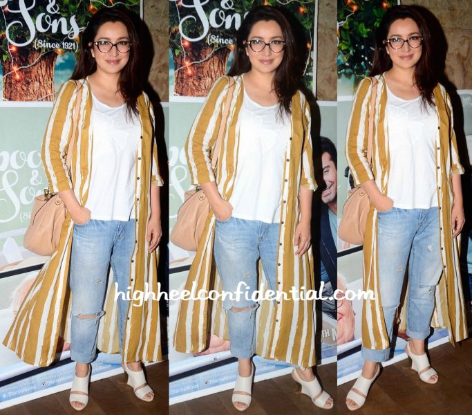 Tisca Chopra At Kapoor And Sons Screening