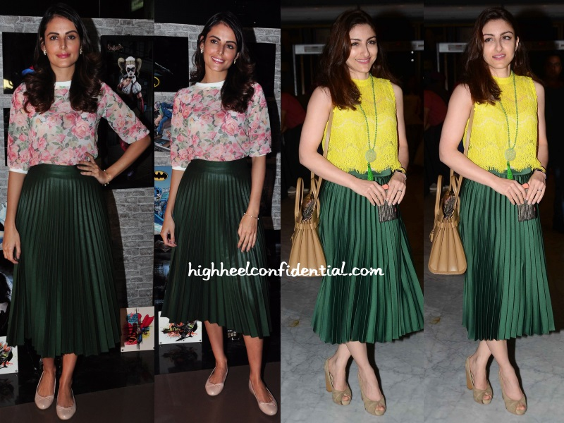 mandana-karimi-soha-ali-khan-batman-screening-whose-line