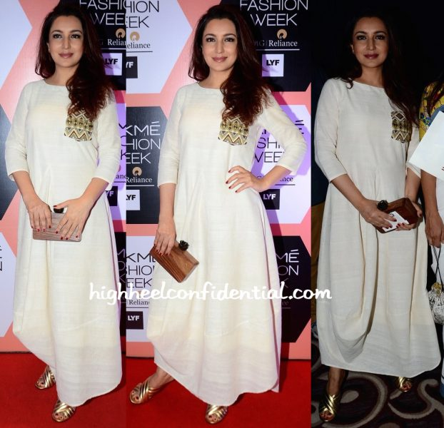 tisca chopra in purvi doshi at lakme fashion week-1