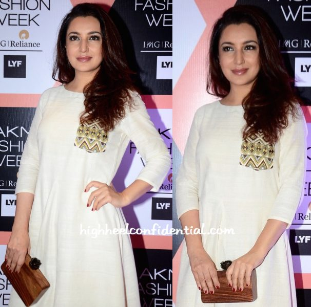 tisca chopra in purvi doshi at lakme fashion week-2