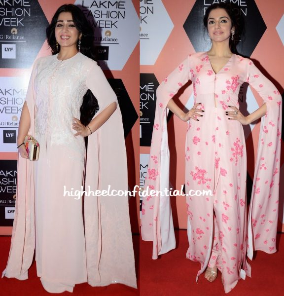 Charmme Kaur And Divya Khosla Kumar In Neeta Lulla At The Designer's Show At Lakme Fashion Week Summer Resort 2016-1