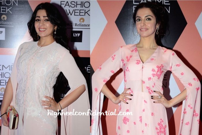 Charmme Kaur And Divya Khosla Kumar In Neeta Lulla At The Designer's Show At Lakme Fashion Week Summer Resort 2016-2 (1)