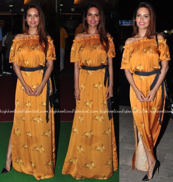 Esha Gupta Wears Verandah By Anjali Patel Mehta To Anupam Kher's Play