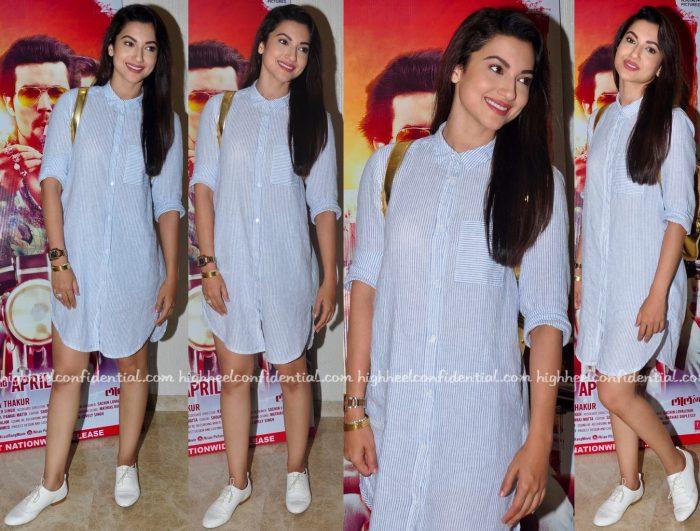 Gauahar Khan In Zara At Laal Rang Screening