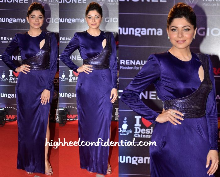 Kanika Kapoor In Versace At GIMA 2016 And In Moe Shour At Hello! Hall Of Fame Awards 2016-1