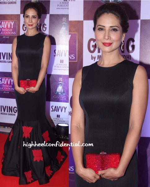 Kim Sharma In Mayyur Girotra At Savvy Magazine Event