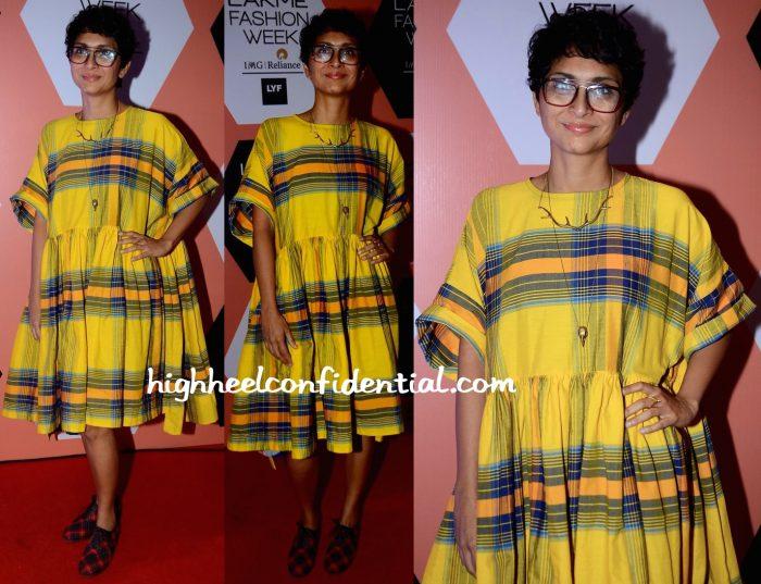 Kiran Rao In Nor Black Nor White At Lakme Fashion Week Summer Resort 2016