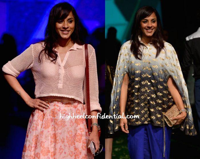 Manasi Scott In Neeta Lulla And Masaba At Lakme Fashion Week Summer Resort 2016-2