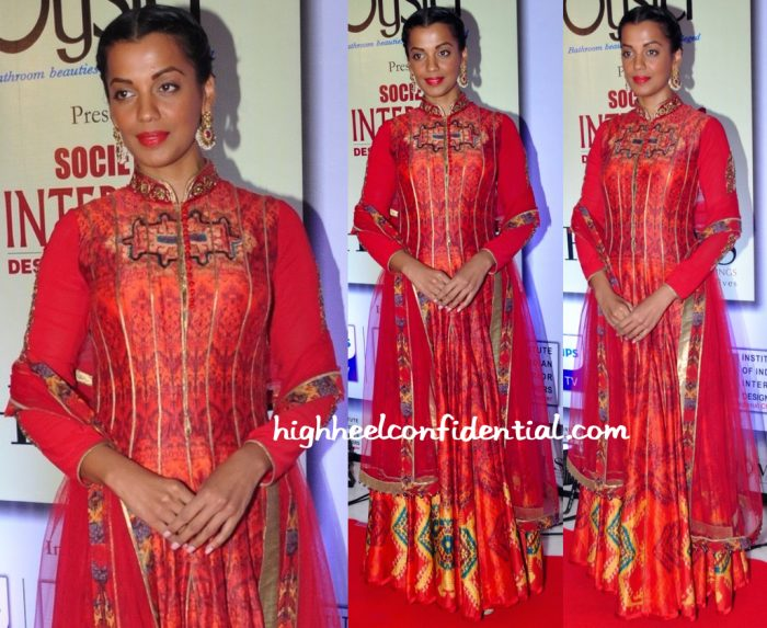 Mugdha Godse In JJ Vallaya At SOciety Interior Awards