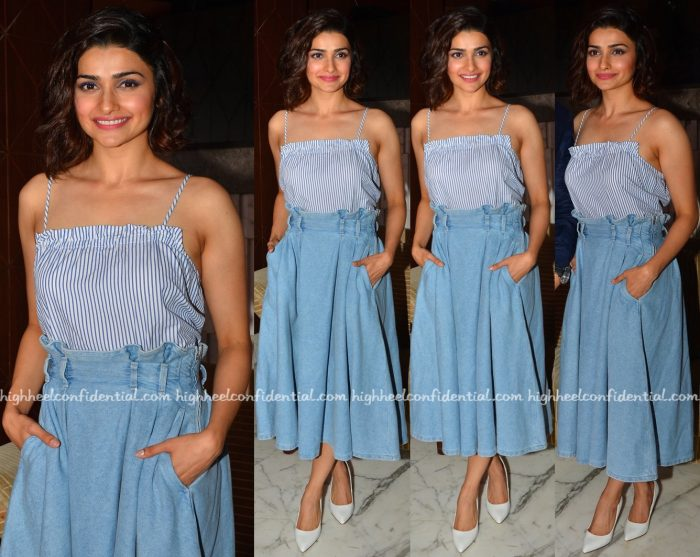 Prachi Desai In H&M At Azhar Promotions