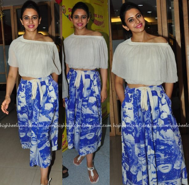 Rakul Preet Singh At 'Sarainodu' Promotions At Radio Mirchi