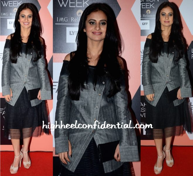 Rasika Dugal In Urvashi Kaur At Lakme Fashion Week Summer Resort 2016