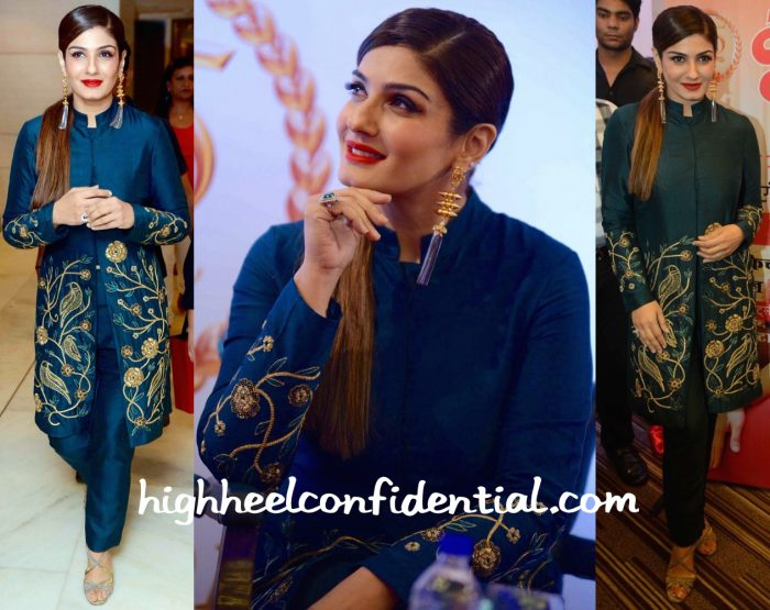 Raveena Tandon In Samatvam At Grehlakshmi's Latest Issue Launch-2