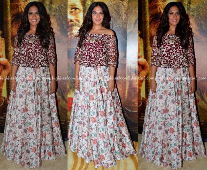 Richa Chadha In Payal Singhal At Sarabjit Song Launch-1