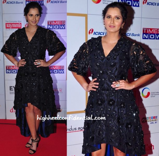 Sania Mirza In Pankaj And Nidhi At Times Now NRI Of The Year 2016 Awards-2