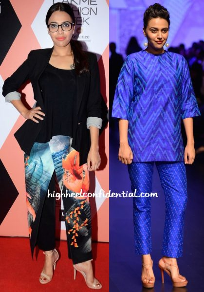 Swara Bhaskar In Farah Sanjana At Lakme Fashion Week Summer Resort 2016-1