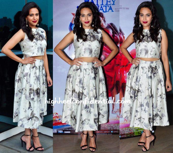 Swara Bhaskar Wears Hirika Jagani To Nil Battey Sannata  Promotions