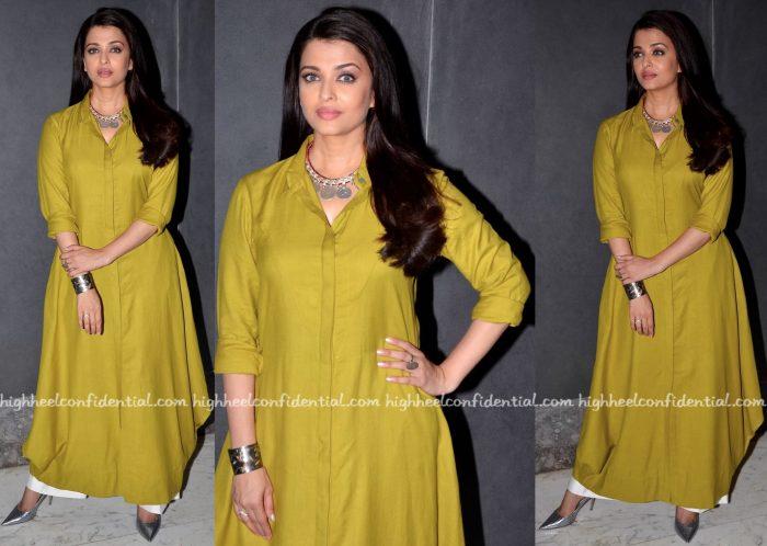 Aishwarya Rai Bachchan In Payal Khandwala At Sarabjit Promotions