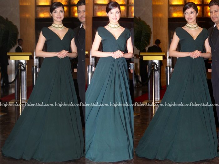 Divya Khosla Kumar In Manish Malhotra At Preity Zinta-Gene Goodenough Wedding Reception