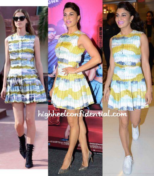 Jacqueline Fernandez Wears Dior Resort 2016 To Housefull 3 Promotions In Delhi-1