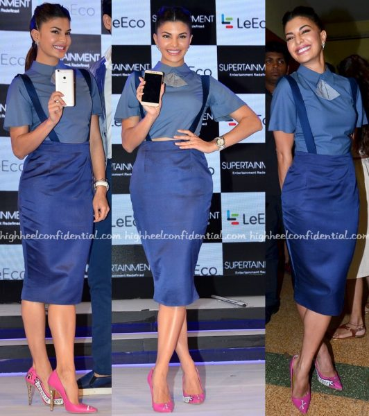 Jacqueline Fernandez Wears The Circus To LeEco Mobile Launch-1