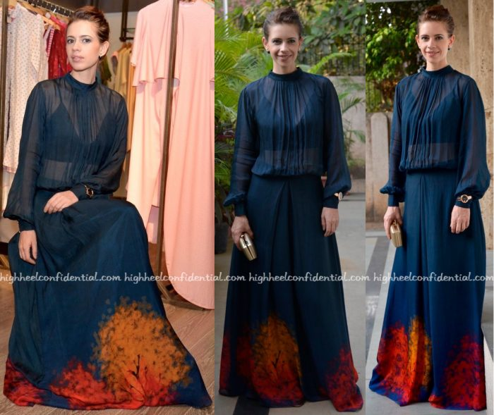 Kalki Koechlin Wears Akuri By Puri To Amrita Puri's Collection Launch At Atosa