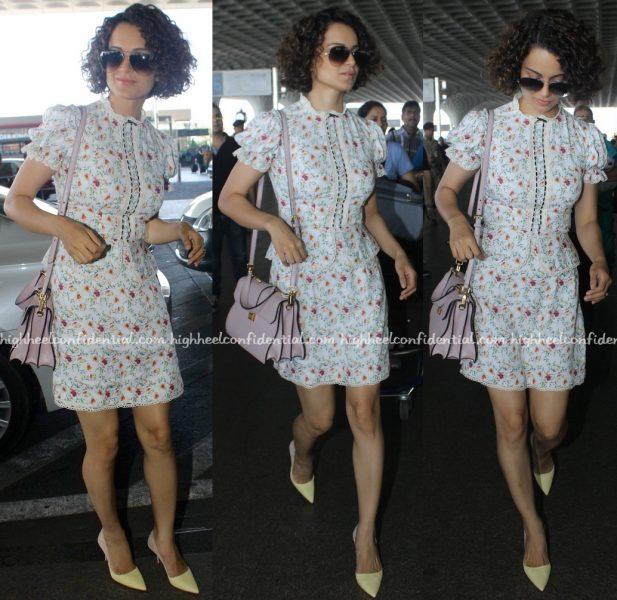 Kangana Ranaut Photographed In Vero Moda At Mumbai Airport-1