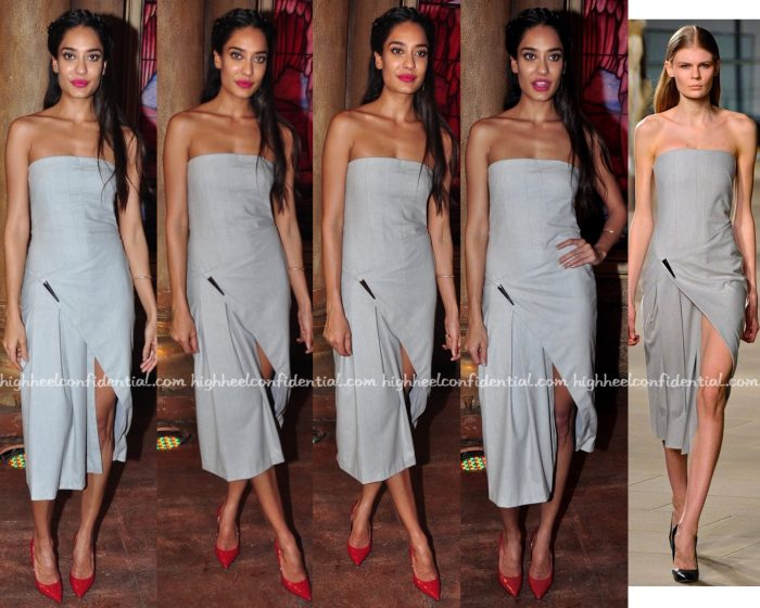Lisa Haydon In Nikhil Thampi At Housefull 3 Promotions