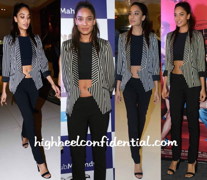 Lisa Haydon Wears Mason, Bebe And Alexander Wang To Housefull 3 Promotions In Delhi