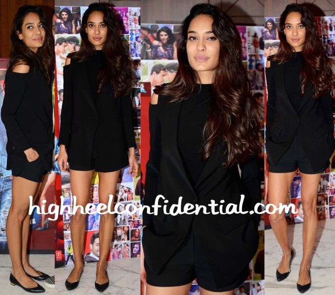Lisa Haydon Wears Zara And DvF To Housefull 3 Promotions