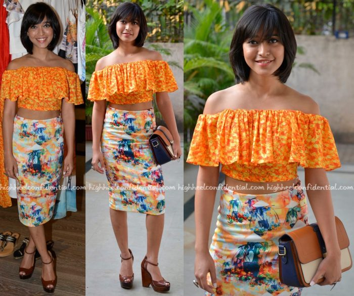 Sayani Gupta Wears Akuri By Puri To Amrita Puri's Collection Launch At Atosa