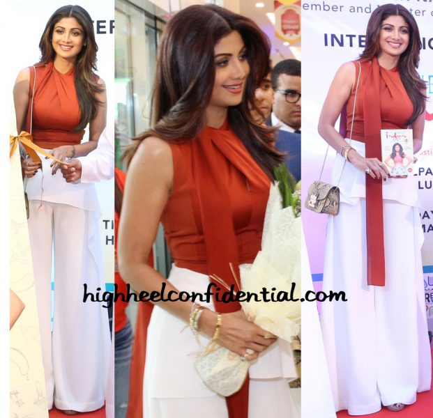 Shilpa Shetty Wears Lola By Suman B To Her Book Launch In Dubai