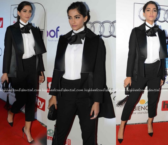 Sonam Kapoor At HT Most Stylish 2016 in Dice Kayek Couture