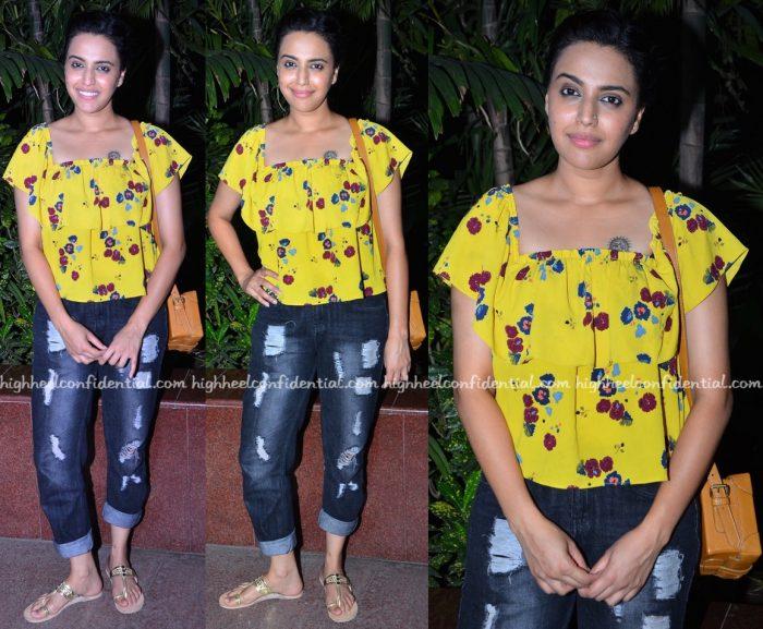 Swara Bhaskar At Neel Battey Sannata Screening And At BIG FM Studios-1