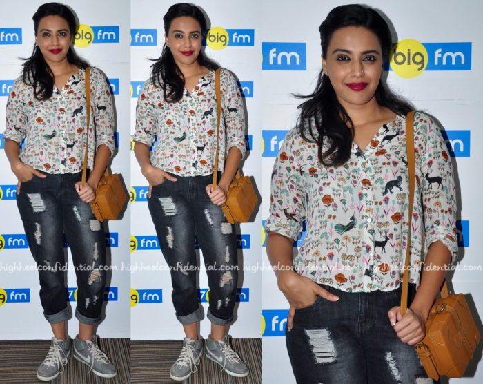 Swara Bhaskar At Neel Battey Sannata Screening And At BIG FM Studios