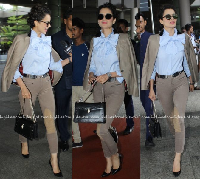 Travel(v)ogue- Kangana Ranaut (Wearing Gucci) Photographed At The Airport-2