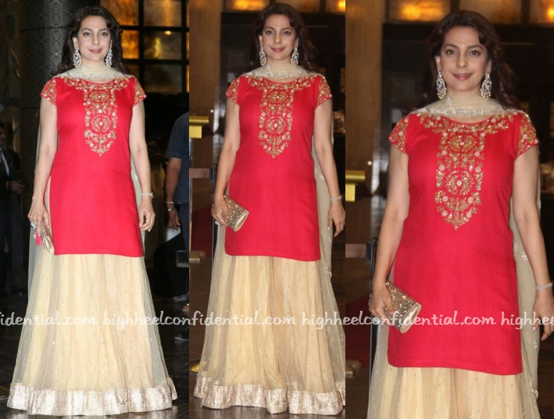 juhi-chawla-peppermint-diva-preity-zinta-wedding-reception