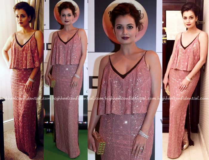 Dia Mirza In Verb By Pallavi Singhee At IIFA Rocks 2016, Madrid
