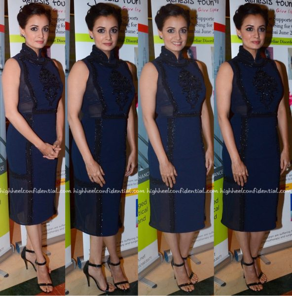 Dia Mirza Wears Pankaj And Nidhi To Genesis Foundation Event-1