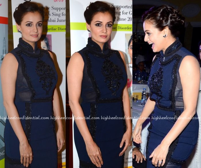Dia Mirza Wears Pankaj And Nidhi To Genesis Foundation Event-2