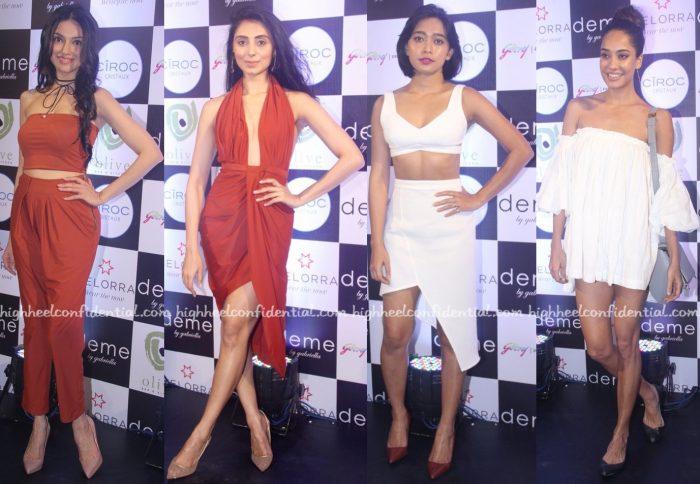 Divya Khosla Kumar, Pernia Qureshi, Sayani Gupta And Lisa Haydon In Deme By Gabriella At Designer's Presentation