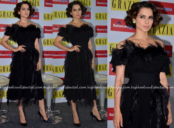 Kangana Ranaut Wears Ferragamo To Grazia's Latest Issue Launch:Unveiling-1