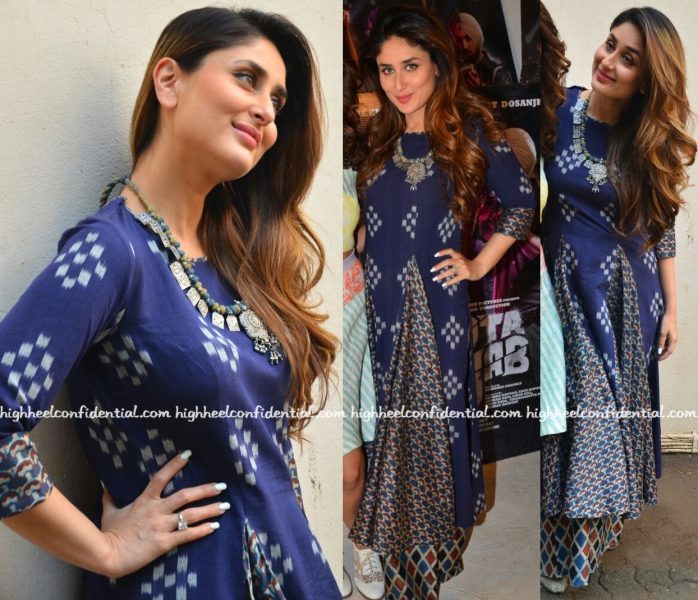 Kareena Kapoor Wears Label Anushree To 'Udta Punjab' Promotions-2