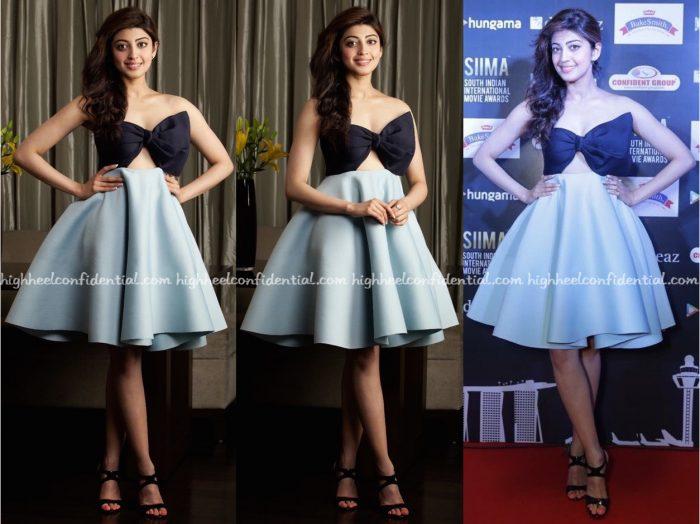 Pranitha Subhash Wears MintBlush Designs To Siima 2016 Press Meet