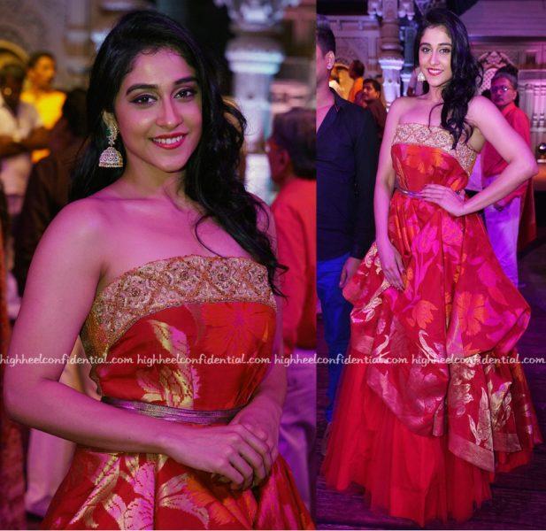 Regina Cassandra In Shravan Kumar At The Designer's Fashion Show In Hyderabad-2