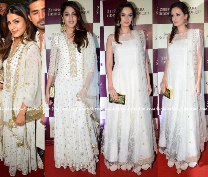 Rhea Chakraborty And Evelyn Sharma At Baba Siddique's Iftar Party-1