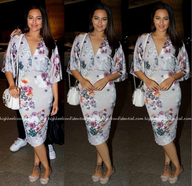 Sonakshi Sinha Photographed In ASOS As She Heads Off To IIFA 2016 Madrid