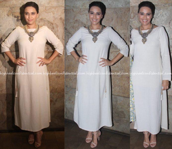 Swara Bhaskar Wears Anita Dongre Grassroot To Nil Battey Sannata Screening-1