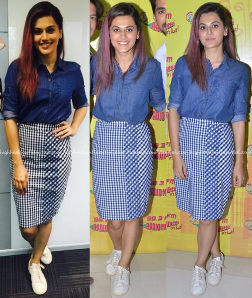 Taapsee Pannu In Manish Bansal And Quench At 'Tum Ho Toh Lagta Hai' Promotions-1